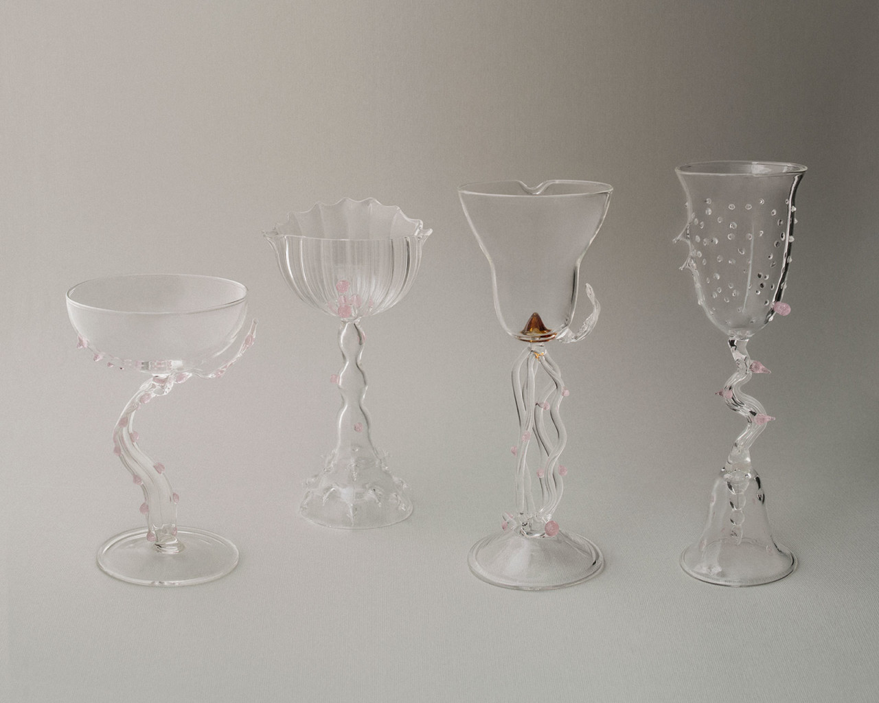 Valentina Cameranesi Sgroi ETERE glass pieces